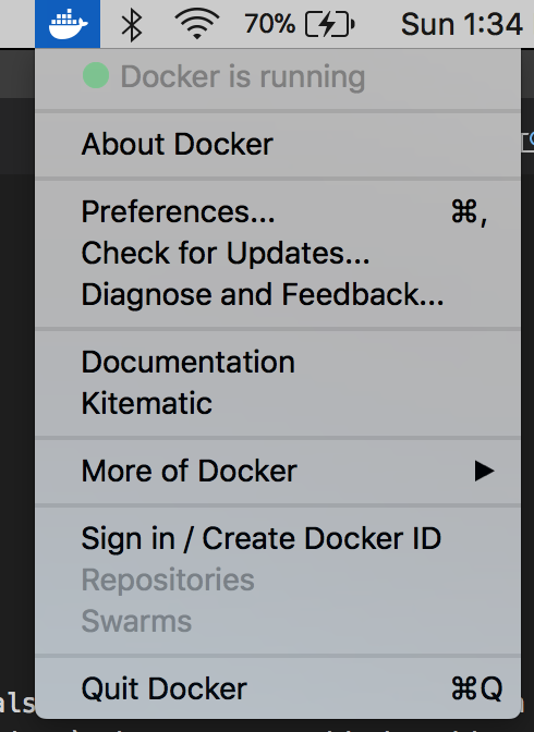 Docker Menu Flyout